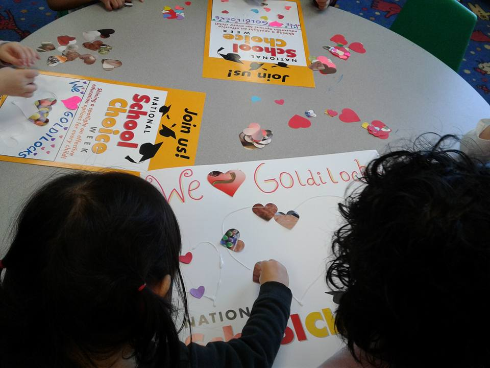 Decorating school choice posters - Goldilocks from Rutherford, NJ