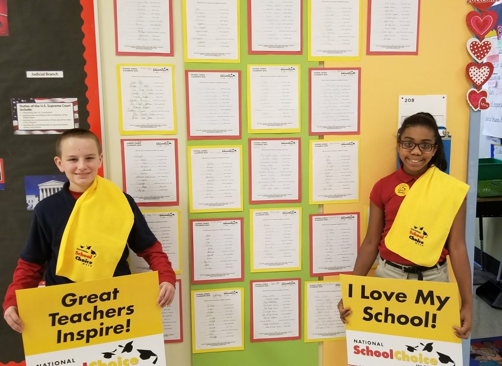 Lincoln Elementary Magnet School students celebrate school choice